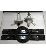 "John Deere 42"" LA115 100 Series Deck Rebuild Kit Spindles Blades Belt - $88.49"