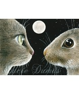 Art print 5x7 Cat 413 rabbit bunny by Lucie Dumas - $9.99
