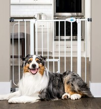 Carlson Extra Wide Walk Through Pet Gate with Small Pet Door, Includes 4... - $44.99