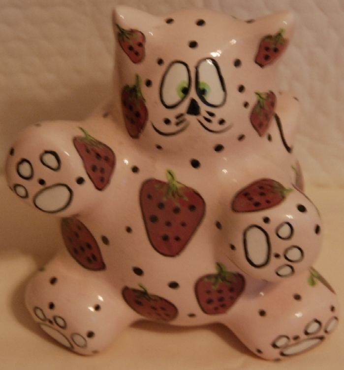 Primary image for Meowberry Kitty Bank - pink ceramic by Ganz