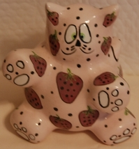 Meowberry Kitty Bank - pink ceramic by Ganz - $9.75