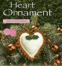 X283 Crochet PATTERN ONLY Valentine Flaming Heart Ornament Sachet Pattern - $7.50