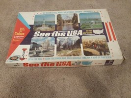 Vintage 1966 See The USA Peg Map Educational Board Game by Cadaco ~ Complete - $28.41