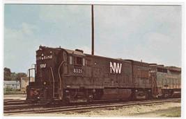 Norfolk & Western Railroad Train 8521 Bellevue Ohio postcard - $5.45