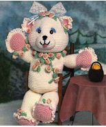 X310 Crochet PATTERN ONLY Rosie the Bear Doll Pattern Toy - $7.95