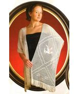 X313 Filet Crochet PATTERN ONLY Peace Dove Shaw... - $7.45