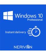 Windows 10 Professional Pro 32bit 64bit Retail Activation Key Instant De... - $17.99