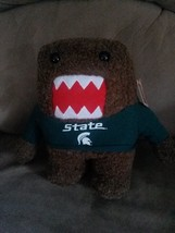 "MSU SPARTANS DOMO Brand New 2012 Plush Tags 10"" MICHIGAN STATE UNIVERSITY - $9.99"