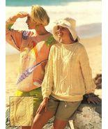 X317 Knit PATTERN ONLY Sea Turtle & Seashell Sw... - $10.45
