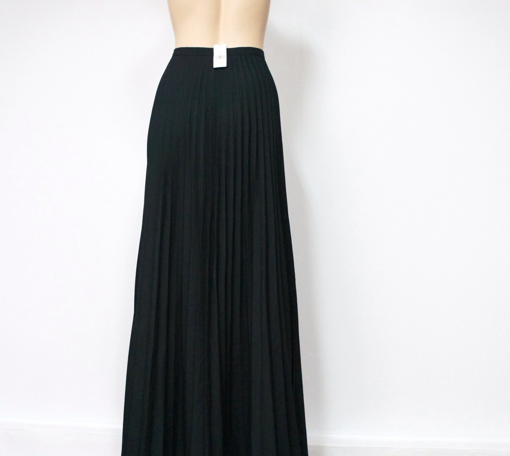 Elegant Jill Stuart Skirt Long Black Pleated Womens Size 8 - Skirts