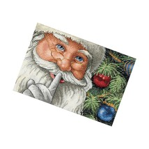 Dimensions Gold Collection Counted Cross Stitch Kit, Santa'S Christmas Cross  - $21.99