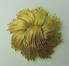 Vintage Monet Gold metal Art Deco BROOCH Pin - $8.00