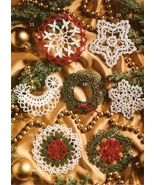 X348 Crochet PATTERN ONLY Thread Tree Trims 21 Christmas Ornament Pattern - $7.95