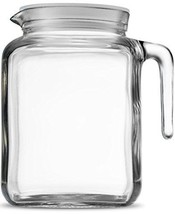 Bormioli Rocco Hermetic Seal Glass Pitcher With Lid and Spout 68 Ounce G... - $23.19