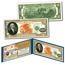 1882 Series James Madison $5,000 Gold Certificate designed on a Real $2 ... - $13.98