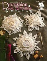 X373 Crochet PATTERN ONLY 8 Pincushion Snowflakes Pattern Annie's Attic - $12.50