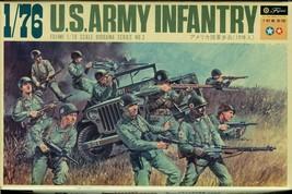 VINTAGE FUJIMI US ARMY INFANTRY PLUS GERMAN KIT 1 PLASTIC MODEL KIT OPEN... - $19.95