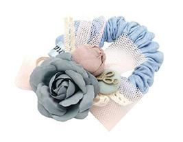 Flowers Lace Hair Elastic Tie Band Rope for Girl and Women - $16.77
