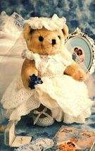 X405 Crochet PATTERN ONLY Bridal Bear Doll Dress Pattern - $7.50