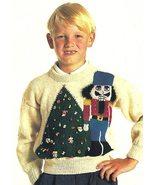 X416 Knit PATTERN ONLY Child Sweater & Hat Pattern Christmas Eskimo & Nu... - $7.45