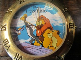 Disney The Lion King Collectors Edition 80/8526 Watch brown leather band  - $64.83