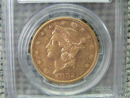 must see>>>>Liberty 1882-S Double Eagle $20 Dollar PCGS AU53 Gold - $1,500.00