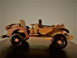 Willy Model Old Car Used by military german Hand Made wooden crafted pro... - $95.00
