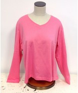 NEW Womens Size Large American Sweetheart Pink V-Neck Longsleeve Sweatsh... - $12.00