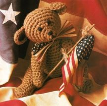 X460 Crochet PATTERN ONLY American Teddy Bear Toy Doll Pattern - $7.50