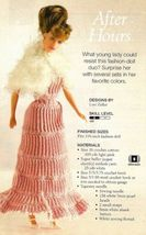 X469 Crochet PATTERN ONLY Fashion Doll Evening Gown Dress & Shawl Pattern - $9.50