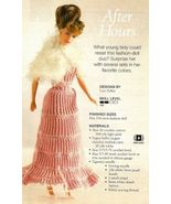 X469 Crochet PATTERN ONLY Fashion Doll Evening Gown Dress & Shawl Pattern - $9.50