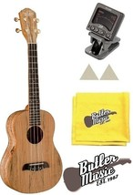 Oscar Schmidt OU8T Spalted Maple Tenor Ukulele satin finish with Tuner B... - $171.45