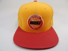 Houston Rockets Mitchell & Ness Size 7 1/8 Crown Fitted NBA Cap Hat Gold Red
