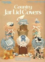 X483 Crochet PATTERN ONLY Country Jar Lid Covers 6 Designs Goose Cow Mouse - $11.50