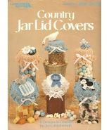 X483 Crochet PATTERN ONLY Country Jar Lid Covers 6 Designs Goose Cow Mouse - $11.45