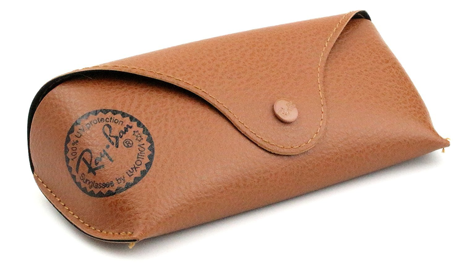 Primary image for New Ray-Ban Leather Case Brown with Cleaning Cloth