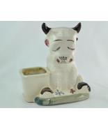 Vintage Cow Bull figurine planter Japan horseshoe stamp mark - $13.75