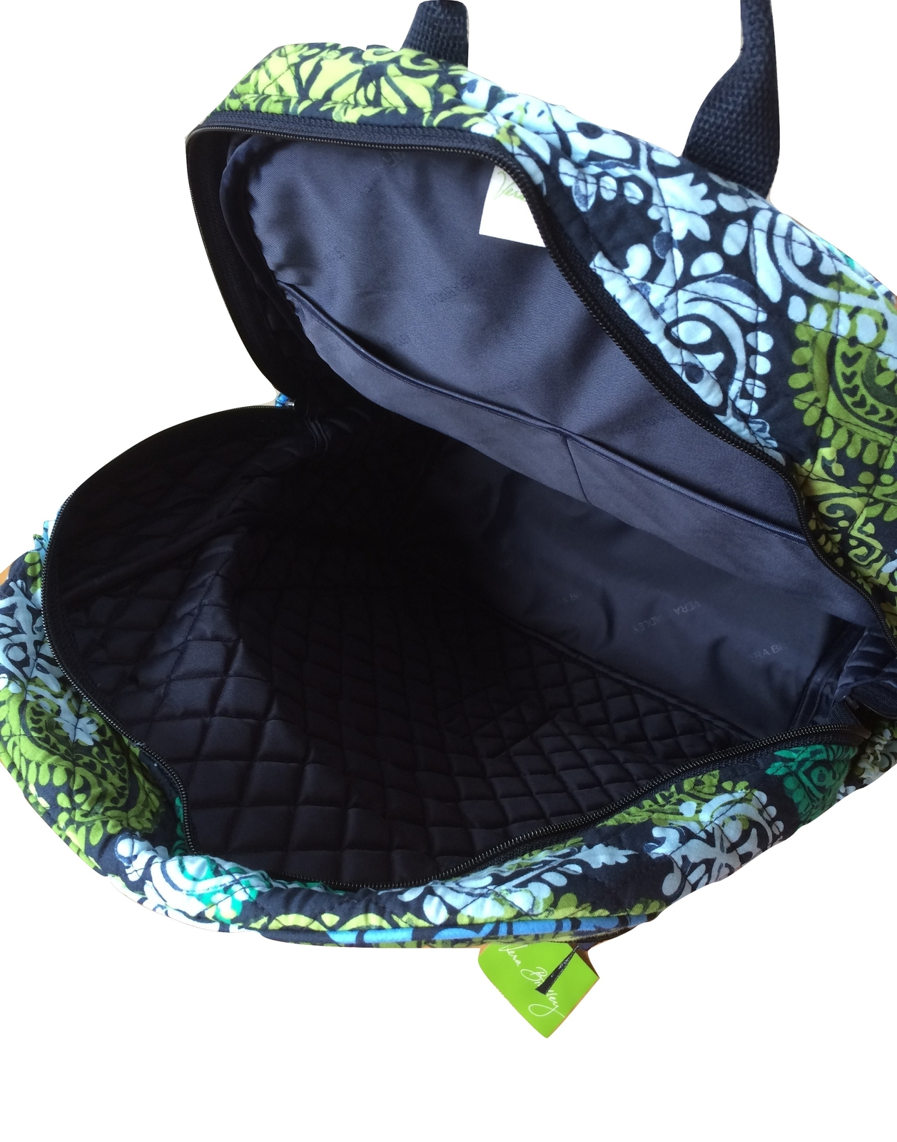 db3e78125519 Vera Bradley Campus Backpack with Caribbean Sea with Navy Interior