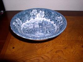 Royal Tudor Ware - Coaching Taverns - Blue (1828)  Coupe Cereal Bowl - 6... - $28.95