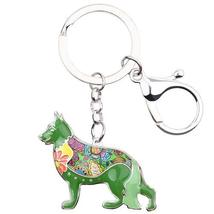 German Shepherd Dog Key Chain 6 Beautiful Color dog art dog painting - $9.99