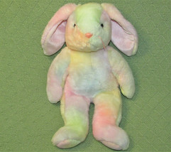 "Ty B EAN Ie Buddy Pastel Bunny Rabbit Tye Dye Stuffed Animal Plush 14"" 1999 Toy - $13.10"