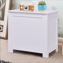 White Wood Laundry Clothes Hamper Storage Basket Bin Organizer Sorter Li... - $50.89