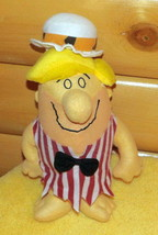 "Fred Flintstone Barney Rubble Plush 13"" in Striped Shirt BowTie & Hat   - $7.99"