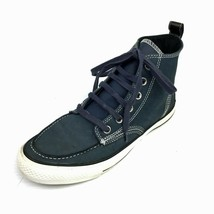 CONVERSE CTAS 125646C Navy Blue Leather High Top Boat Shoes Sneakers Sz 7D - $34.64