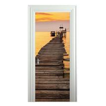 Door Sticker New 3D DIY PVC Waterproof  Door Wall Mural Wharf Dock qd046 - $20.91