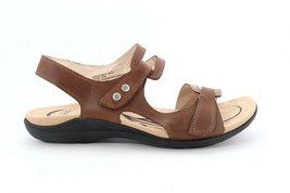 Abeo Crescent Strap Sandals Brown Women's Size US 9.5 Neutral Footbed () 4830 - $110.00