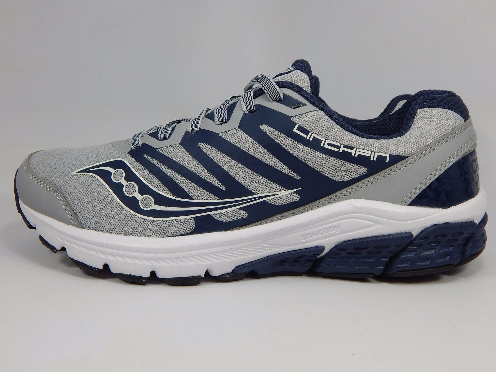 Saucony Linchpin Men's Running Shoes Size US 9 M (D) EU 42.5 Gray Navy S20334-1