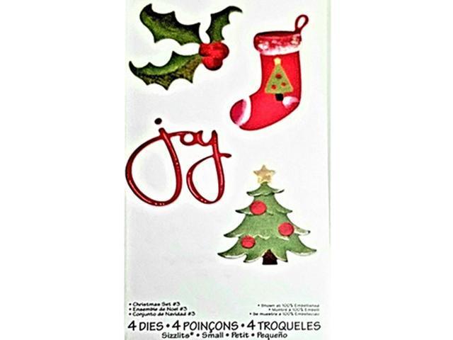 Sizzix Christmas Set No. 3 Dies, Set of 4 #555306