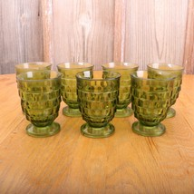 7 Green Indiana Whitehall Juice Glasses Footed ... - $53.28
