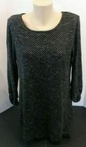Alfani Medium Tunic Pullover Top Chiffon Asymmetrical Hem Ruched 3/4 Sleeve - $29.50
